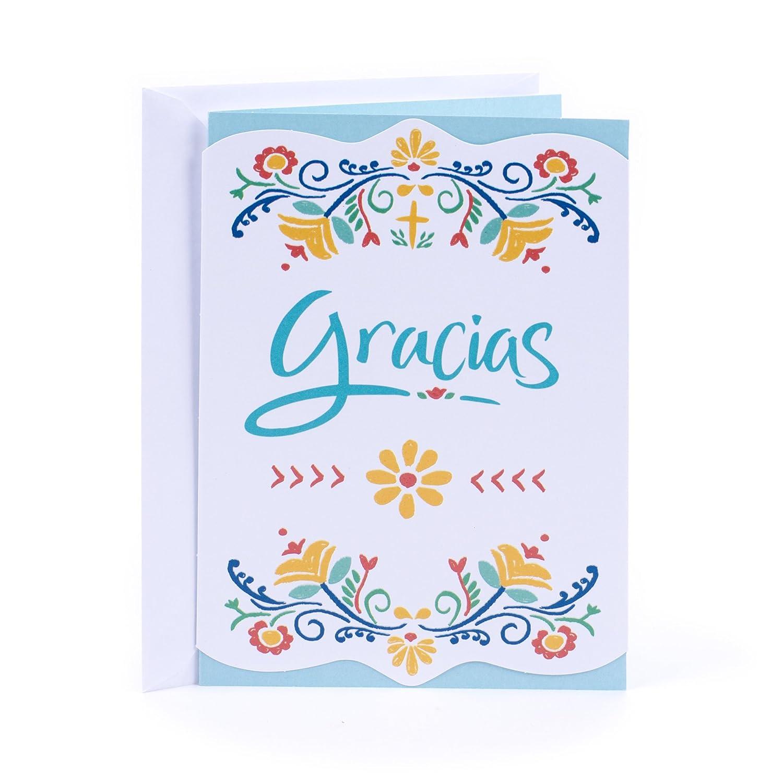 Amazon Hallmark Vida Spanish Religious Thank You Greeting Card