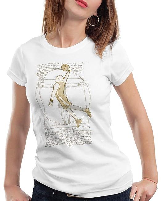 style3 Jugador de Baloncesto de Vitruvio Camiseta para Mujer T ...