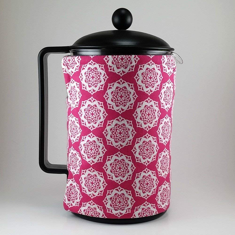 French Press Cozy 12 cup, 51 oz Pink