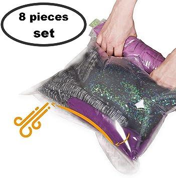 Amazon.com: 8 bolsas reutilizables para almacenar ropa (4 ...