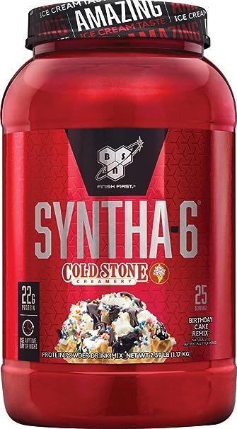 BSN Syntha 6 Whey Protein Powder Cold Stone Creamery Birthday Cake Remix Flavor
