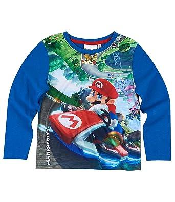 Entdecken Sie die neuesten Trends Wählen Sie für authentisch Schuhwerk Unbekannt Super Mario Jungen Langarmshirt - blau