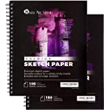 Castle Art Supplies Artists Sketch Books (2 Sketch Pad Pack) 9 x 12, 200 Sheets of Sketch Paper Ideal for Drawing and School Supplies - Acid Free and Excellent Value