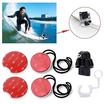 micros2u 8 piezas Surf Tabla De Surf Surf Pack Tethers Mounts para GoPro Hero: Amazon.es: Deportes y aire libre