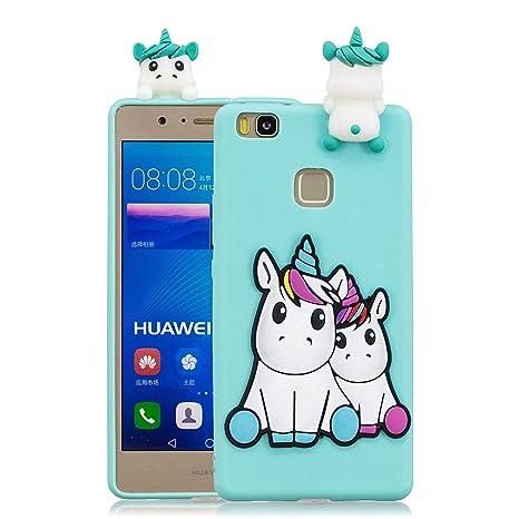 Funluna Funda Huawei P9 Lite, 3D Unicornio Patrón Cover Ultra Delgado TPU Goma Cover Suave Flexible Carcasa Silicona Gel Anti-Rasguño Protectora ...
