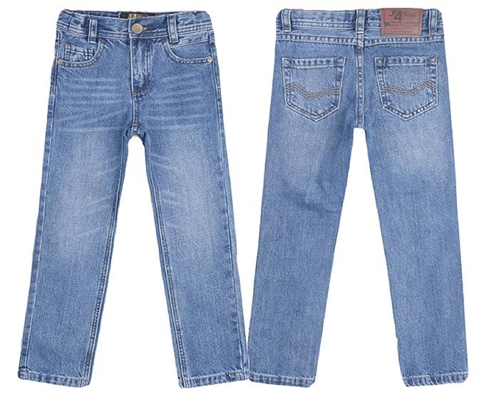 323b397e12f Designer Boys Jeans Elasticated Adjustable Waist Trousers Charcoal Black  Faded Blue Denim Wash Children Kids Age