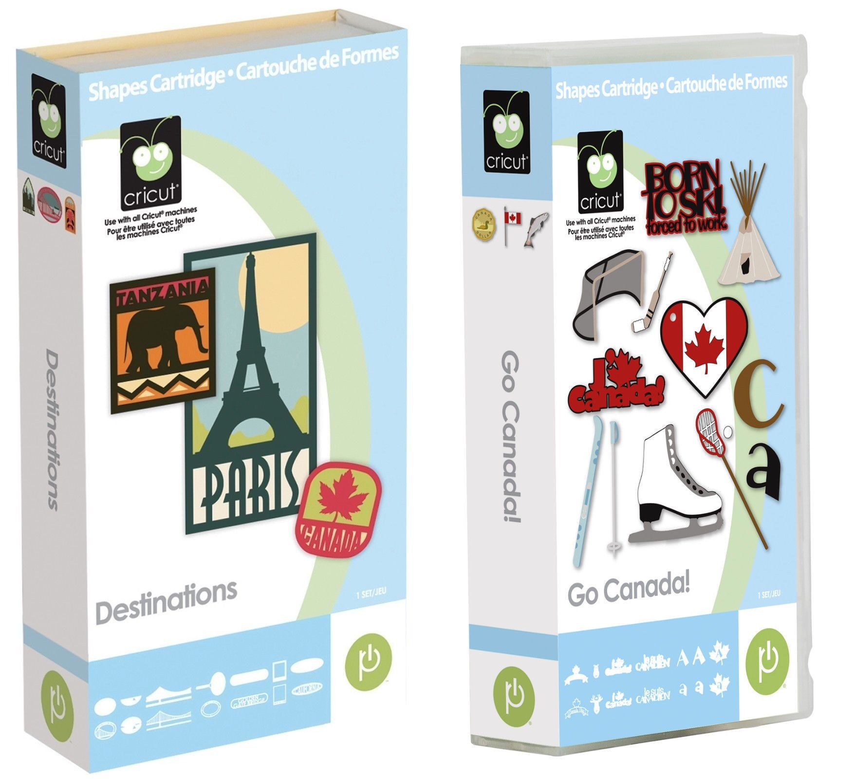Cricut Cartridge Bundle: Destinations & Go Canada Card