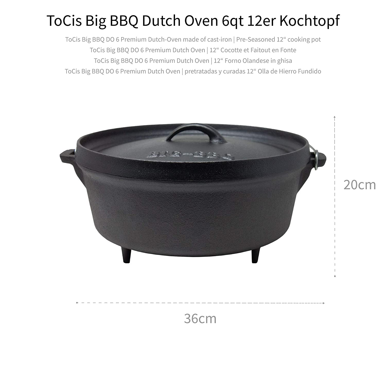 Cacerola de hierro fundido con tapa Tocis Big-BBQ