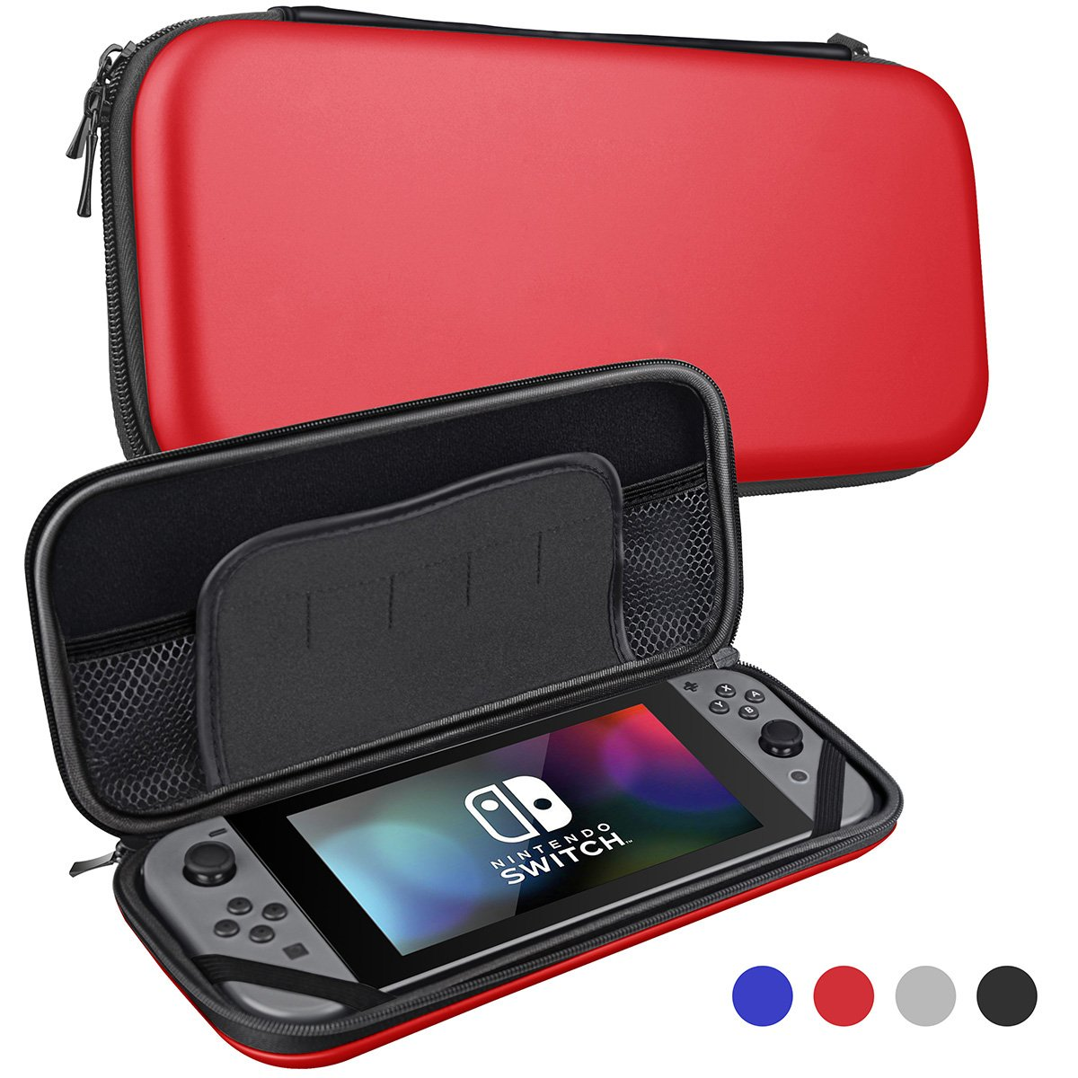 Bepack Case for Nintendo Switch ,Hard Protective Durable Carrying Bag Storage Bag With 5 Game Holder for Nintendo Switch
