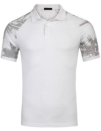 zeela Poloshirt, Herren Kurzarm Polohemden Slim Fit T-Shirt mit Bedruckte  Am Ärmel Größe 83e25aa765