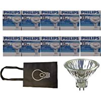 Philips Halogen Light Bulbs/Landscape Indoor or Outdoor Flood/Dimmable 35w Mr16 12v 2 Pin 36 Angle Gu5.3 Base - Pack of…