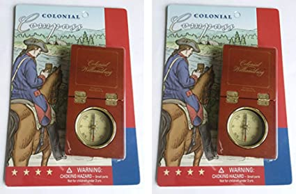 Colonial Williamsburg Set of Two Compasses