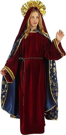 chiber Disfraces Disfraz de Virgen Maria Niña Deluxe (Talla 10 (8 ...