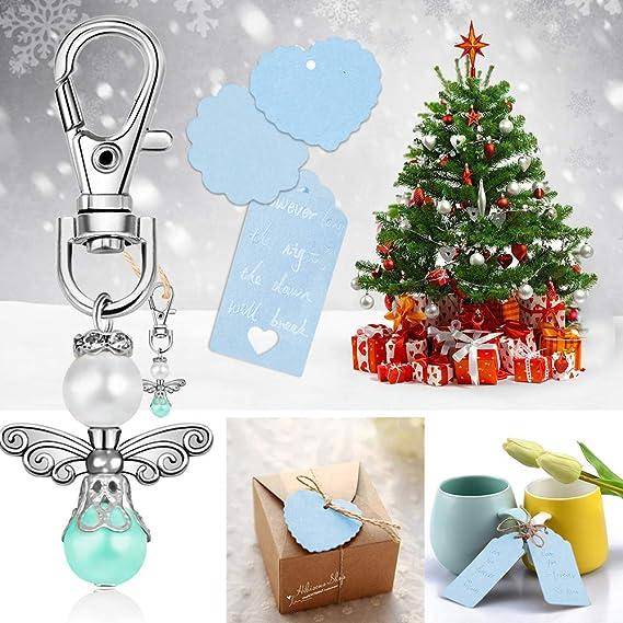 Boda Bautizo Colgante Llavero Estilo /ángel 20PCS con Bolsa de Dulces Etiqueta Kraft Fiesta Cumplea/ños Navidad Comuni/ón Recuerdos para invitados