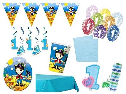 XXL para fiestas cumpleaños Primer Cumpleaños Pirata Niños ...