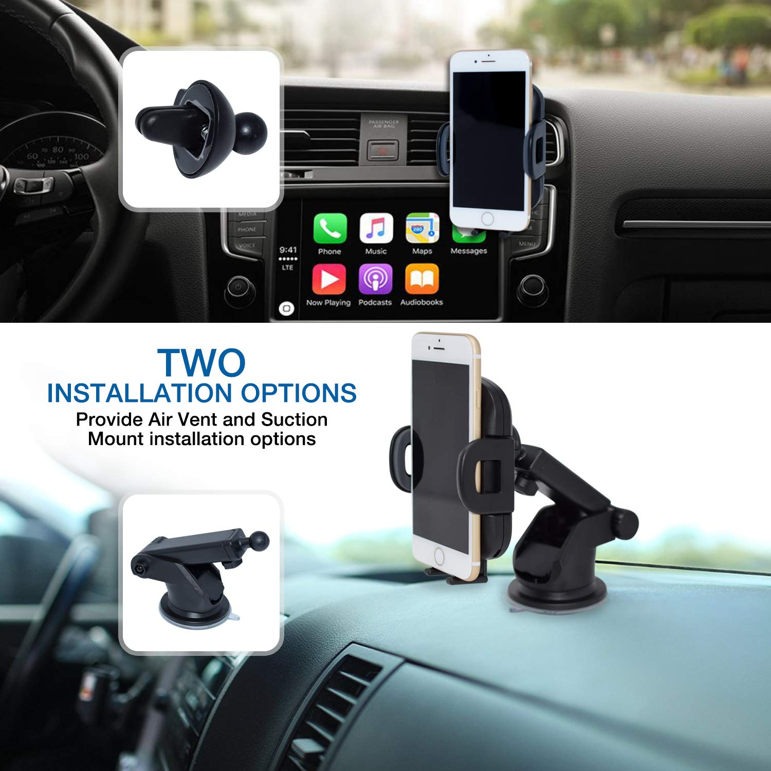 LTD PH-10S BonBuddy BiBi Automatic Fast Car Wireless Charger Easy One Touch Car Dashboard//Windshield//Air Vent Qi Charger Mount For iPhone X8 8 Plus Samsung Galaxy S8 S8 Plus Note 8 DCT ENTERPRISE CO