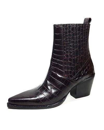 e315a9b06ddf4 Amazon.com  Zara Women Mock Croc Print Leather Ankle Boots 5131 301 ...