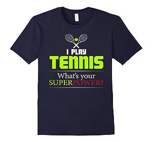 Men's I Play Tennis - What's Your Superpower - Tennis Shirt 2XL Navy