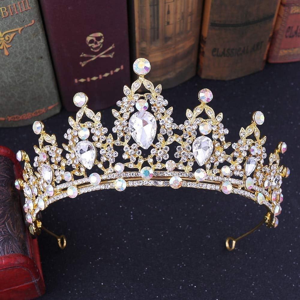 Tiaras Joyería Nupcial de la Boda del Tocado de Cristal Hecho a Mano de la Princesa Corona Diamantes Accesorios for el Cabello de Color zm0329