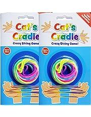 CRADLERZ PMS - Ficelle Magique Cats Cradles,, String Art (Fluo Multicolore x2)