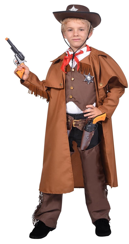 César F323-003 - Costume per travestimento da sceriffo, 8-10 anni