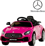 Uenjoy Electric Kids Ride On Car Mercedes Benz AMG GTR Motorized Vehicles with Remote Control, Battery Powered, LED Lights,