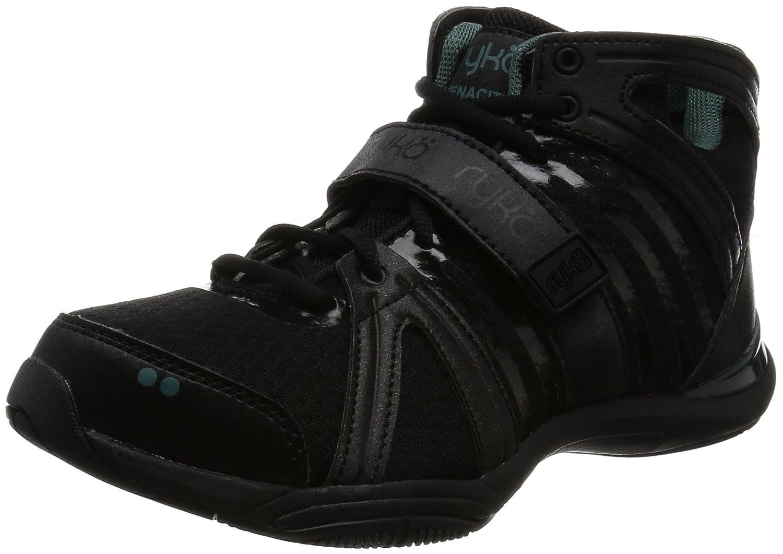 Ryka Women's Tenacity Cross-Trainer Shoe B01CR9ETU8 5.5 B(M) US|Black/Green
