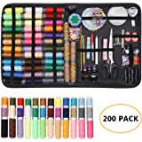 HAITRAL Sewing Kit- 200Pcs Large Sewing Supplies, Beginners Sewing Kit Accessories with 41 XL Spools of Threads, Carrying Case for Traveler, Adults, Children, Beginners, Emergency, DIY