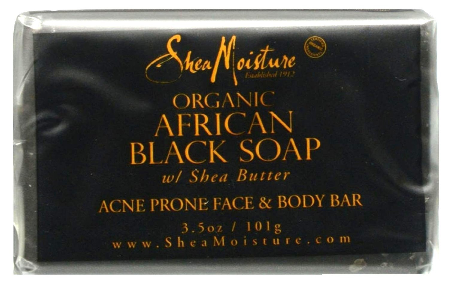 SheaMoisture African Black Soap Acne Prone Face & Body Bar, 3.5 Ounce 764302270003
