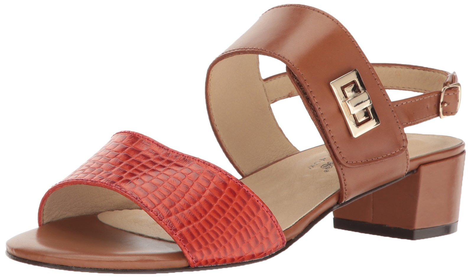 Walking Cradles Women's Milan Dress Sandal, Luggage, 8.5 W US
