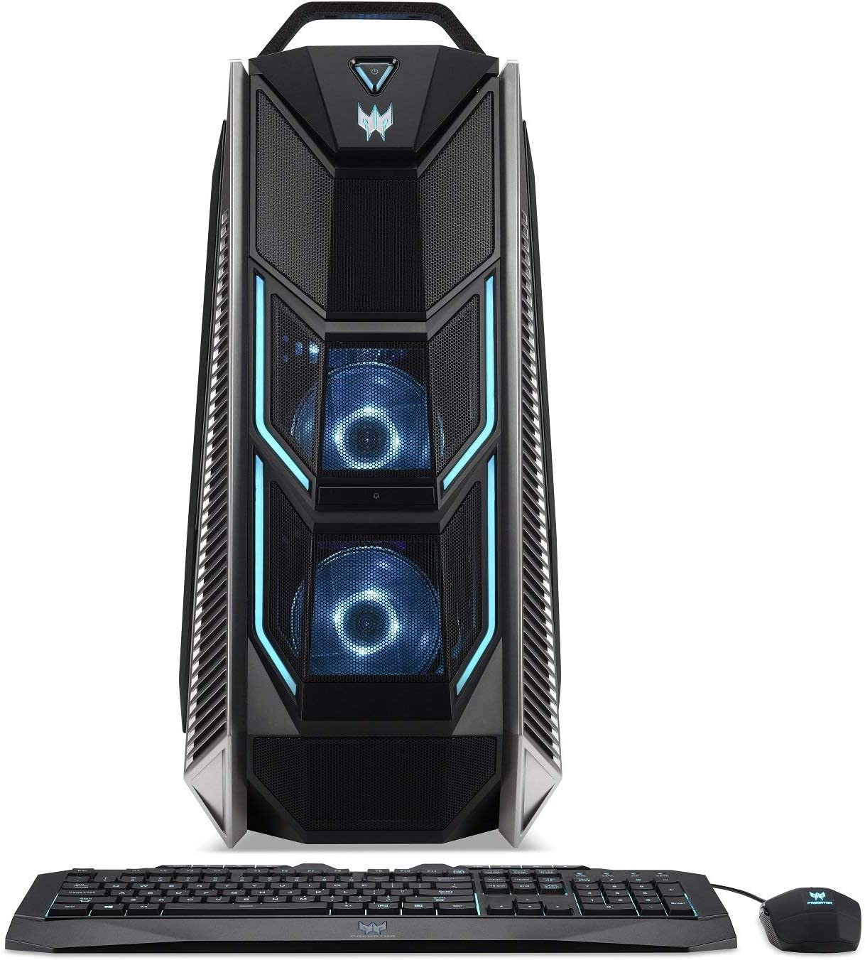 Acer Predator Orion 9000 Desktop, Intel i7-8700K 6-Core (Up to 4.7 GHz), NVIDIA Geforce RTX 2080 Ti 11GB, 32GB DDR4 RAM, 256GB PCIe NVMe SSD, 2TB HDD, Ice Tunnel Cooling, Win 10, PO9-600-8700K2080Ti