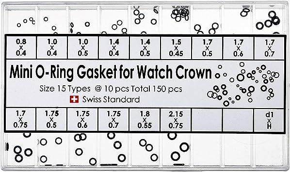 Guarnizioni per corone mini o-ring x corone orologi assortimento 180 pezzi