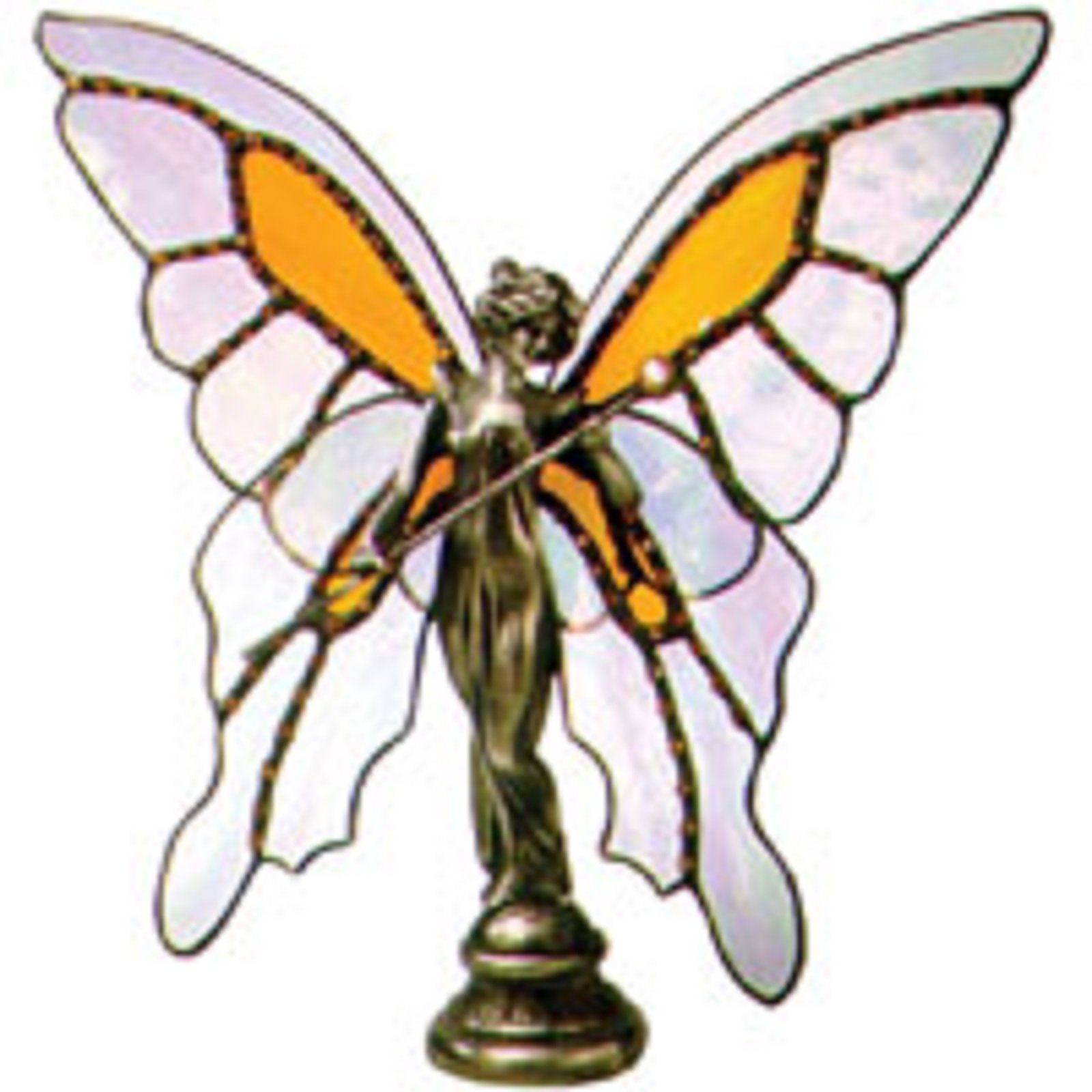 Lead Free Butterfly Queen Hand Cast Sculpture Add Your Own Wings - Stained Glass Supplies