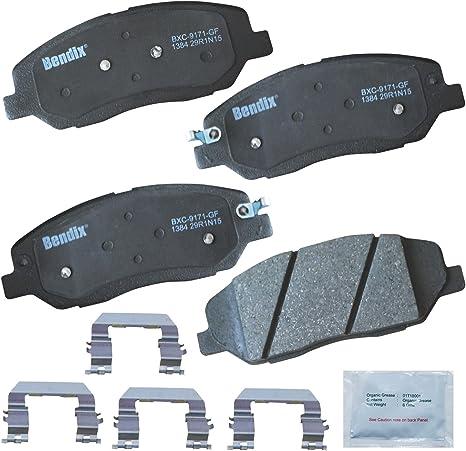 with Installation Hardware Front Bendix Premium Copper Free CFC1421 Ceramic Brake Pad
