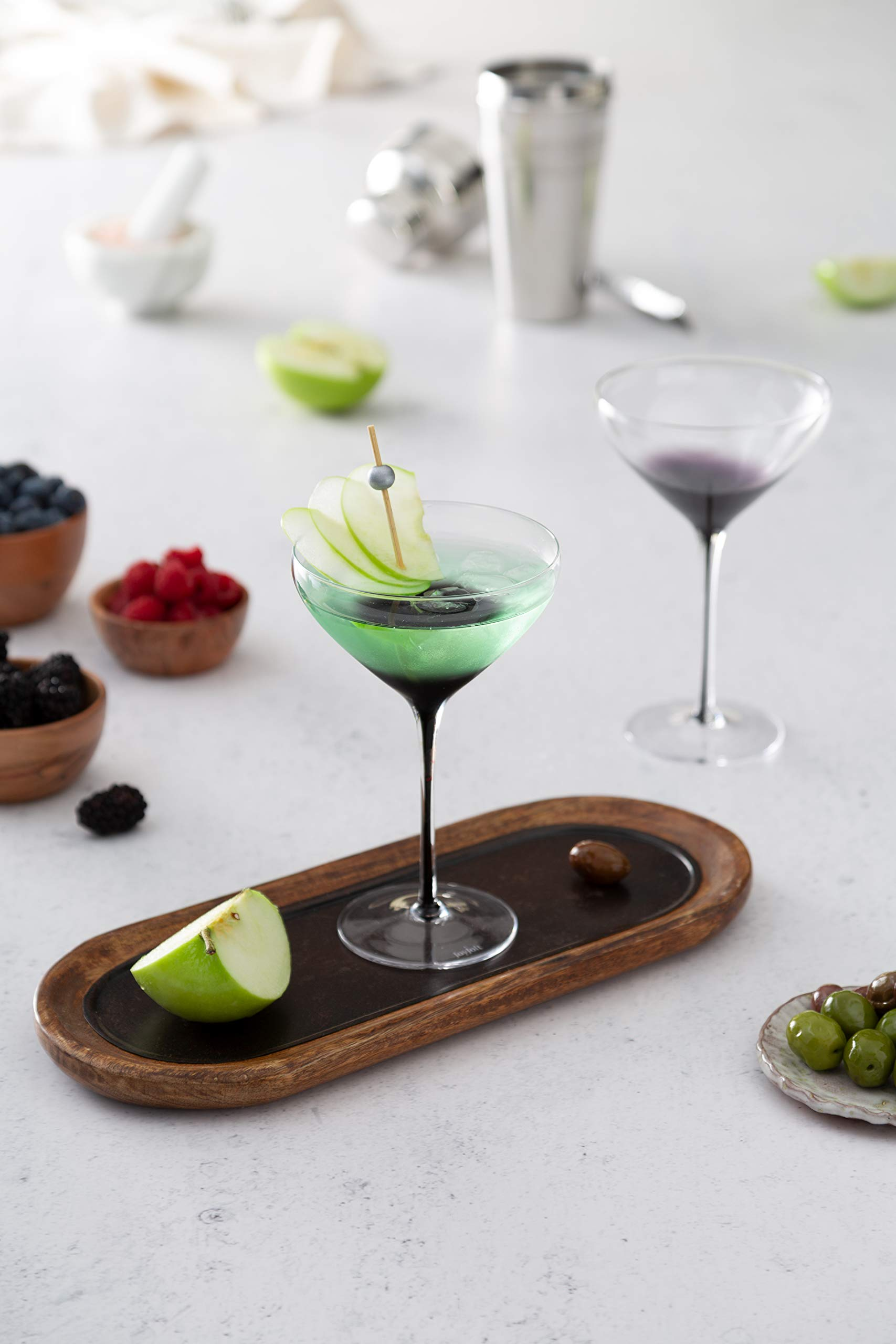 JoyJolt Black Swan Stemmed Martini Glasses, Premium Lead Free Crystal Glassware, 10.5 Oz Capacity, Set Of 2 by JoyJolt (Image #5)