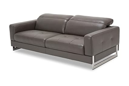 Amazon.com  Michael Amini MBLP-NVELO15-SLT-13 Novelo Leather Sofa in ... f843456e5