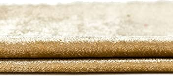 "McAlister Shiny Velvet Designer Fabric By Yard | 55"" Wide Plain Champagne Gold | Lush, Plush & Soft Upholstery Curtain & Craft"