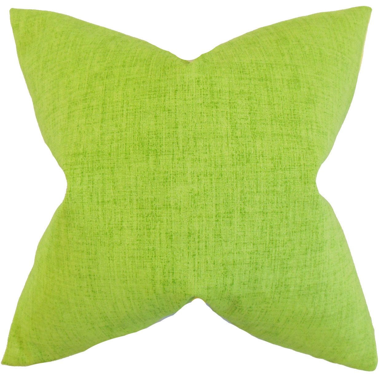 The Pillow Collection Leda Solid Lime Down Filled Throw Pillow
