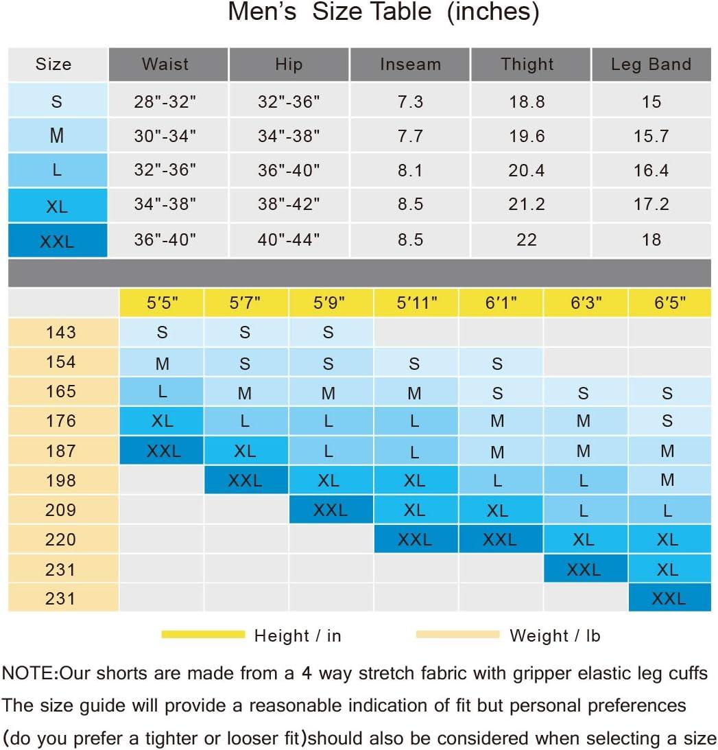 S Breathable /& Quick Drying Cycling Shorts Souke Sports Men/'s 4D Padded Cycling Shorts mens Black//Grey