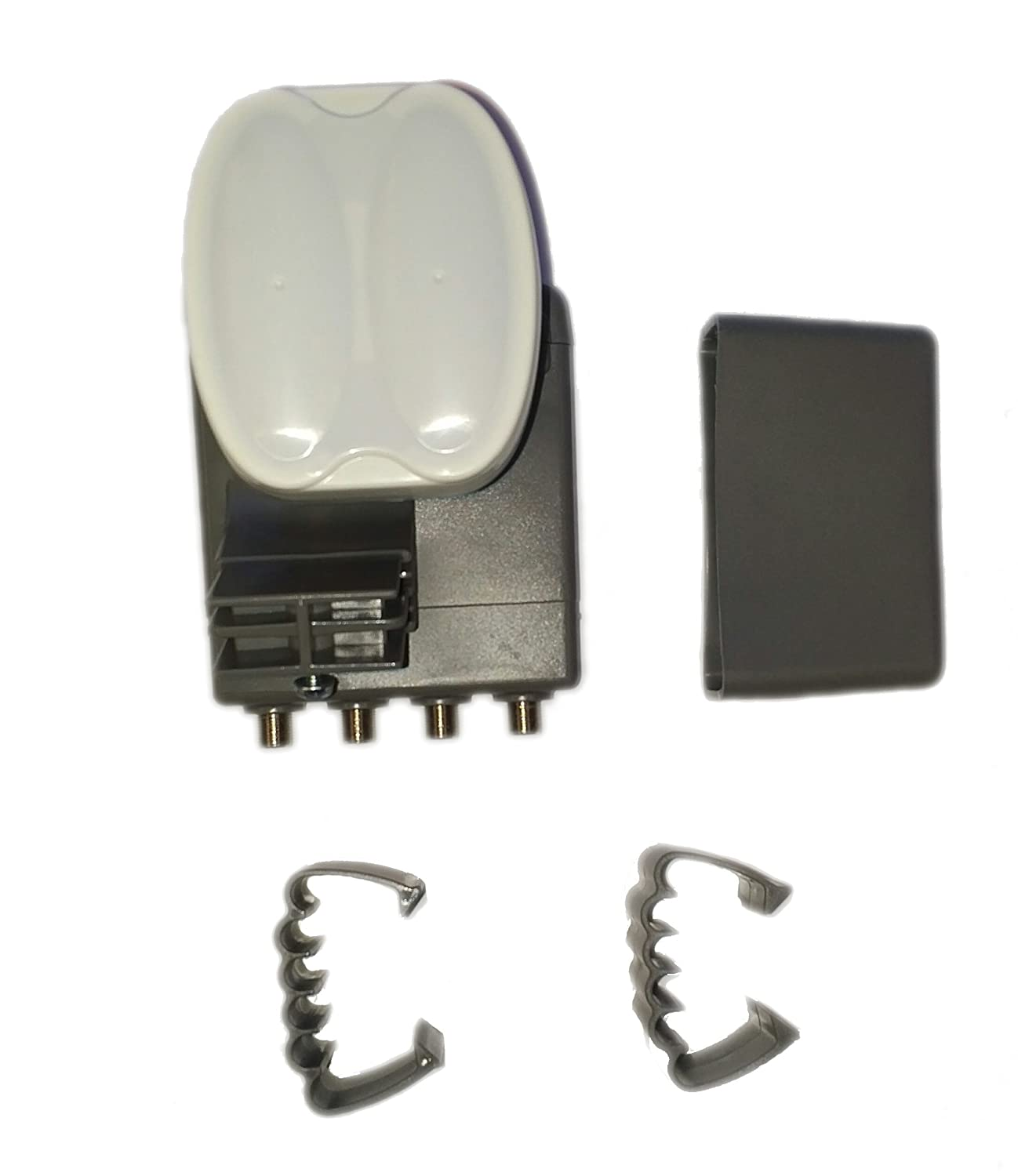 SHAW DIRECT SHAW60-GI XKU TRIPLE SATELLITE QUAD OUTPUT SWITCHABLE LNBF WITH BOOT AND WIRE CLIP SHAW60E-GI