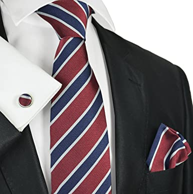e544d724 Red and Blue Regimental Striped Silk Tie and Accessories by Paul Malone