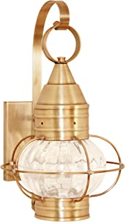 product image for Brass Traditions 631-OPT-AB Small Onion Wall Lantern Optic Globe, Antique Brass Finish Optic Globe Onion Wall Lantern