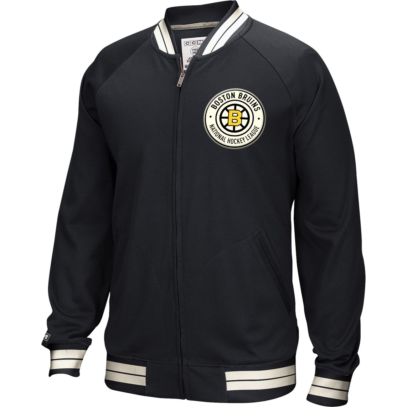 CCM Full Zip Jacket Boston Bruins Größe:XL J6670