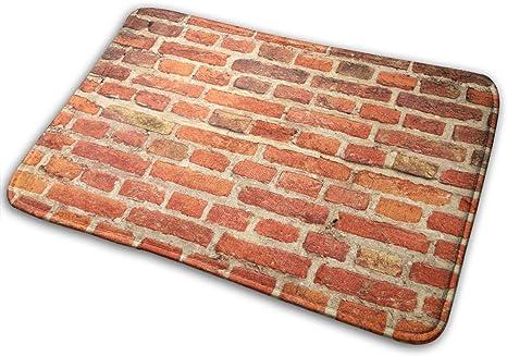 Amazon Com Ngff Red Brick Wall Structure Stone Bath Mat Non Slip Absorbent Super Cozy Velvet Bathroom Rug Carpet Bath Rugs Home Kitchen