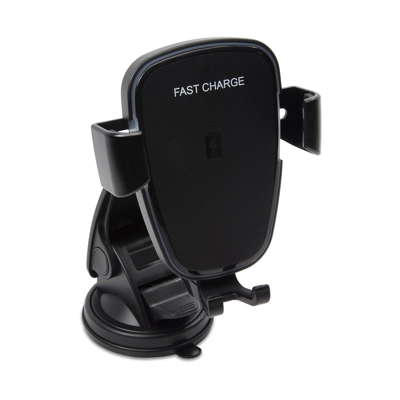 車の充電器、ワイヤレス充電]スマートフォンとタブレットでBoxWave [ユニバーサル車マウント – ジェットブラック B07BHWX8CW
