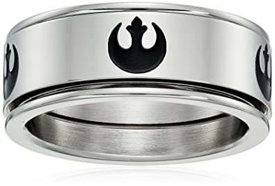 Amazon.com: star wars Jewelry Rebel símbolo anillo giratorio ...