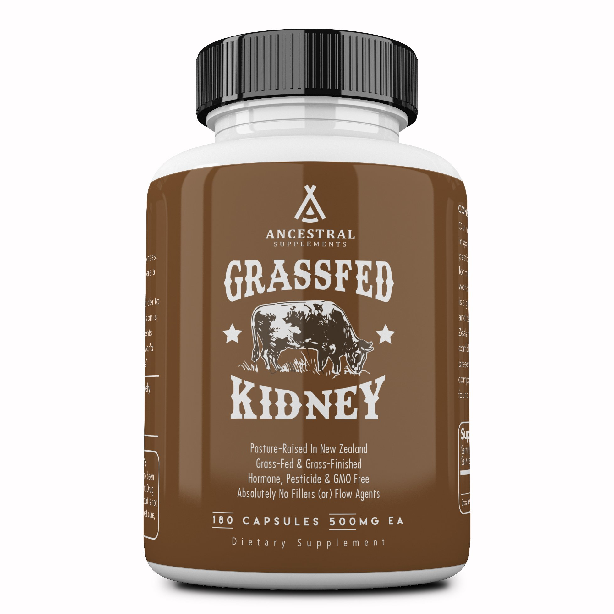Ancestral Supplements Kidney (High in Selenium, B12, DAO) - Supports Kidney, Urinary, Thyroid, Histamine Health (180 Capsules) by Ancestral Supplements