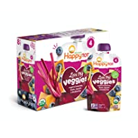 Happy Tot Organic Stage 4 Baby Food Love My Veggies Banana Beet Squash & Blueberry...