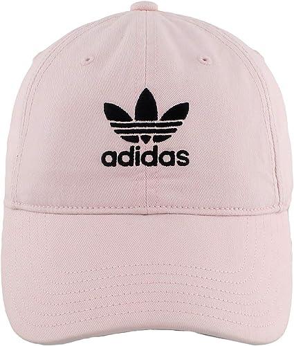Adidas ORIGINALS - Gorra Ajustable Relajada para Mujer, Gorra con Correa  Ajustable Relajada, Rosa y Negro, Una Talla