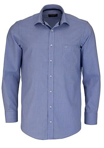 CASAMODA Comfort Fit Hemd super langer Arm Muster blau AL 72 Größe 46